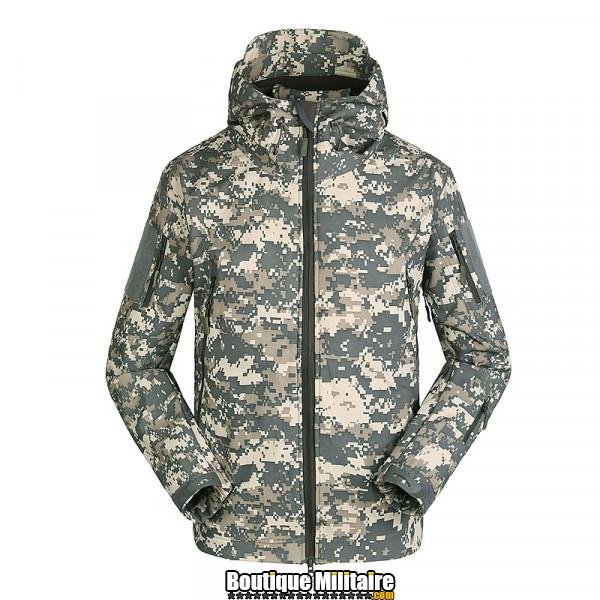 Blouson Militaire Tacticale Imperméable • Camouflage • Unie Acu