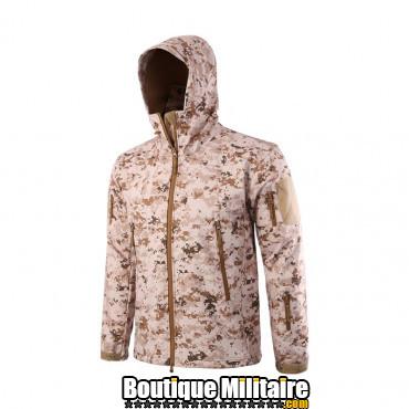 Blouson militaire Tacticale Imperméable • Camouflage CAMO Désert