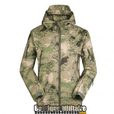 Blouson militaire Tacticale Imperméable • Camouflage CAMO vert