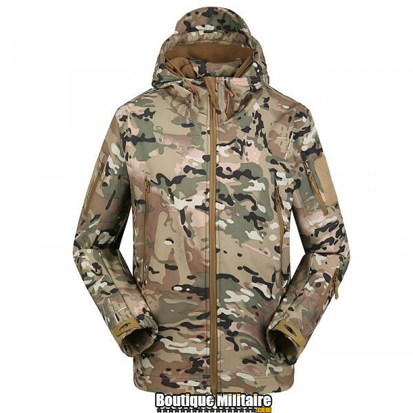 Blouson militaire Tacticale Imperméable • Camouflage CP