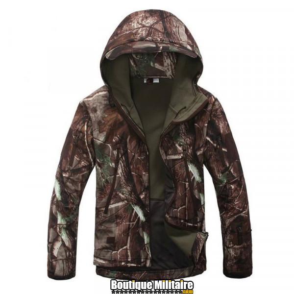 Blouson Militaire Tacticale Imperméable • Camouflage • Camo Forêt