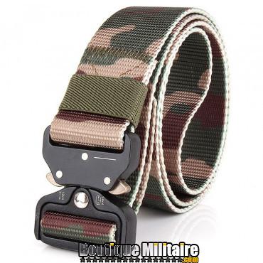 Ceinture de combat militaire • Boucle Tacticale • 125cm CAMO Forêt