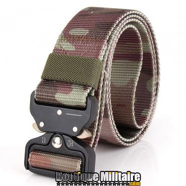 Ceinture de combat militaire • Boucle Tacticale • 125cm CAMO Prairie