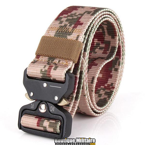 Ceinture de combat militaire • Boucle Tacticale • 125cm CAMO Désert