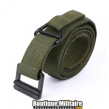 Ceinture de combat militaire • Boucle Classique • 125cm Unie Vert Armée