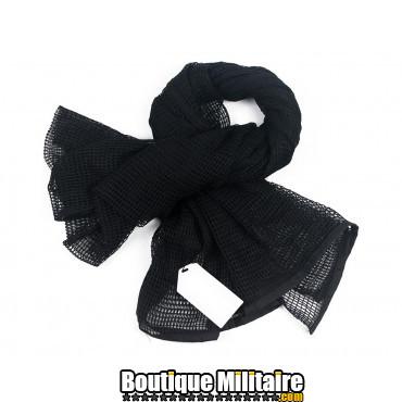 Écharpe militaire en maille tactique arabe • 190x90cm Unie Noir