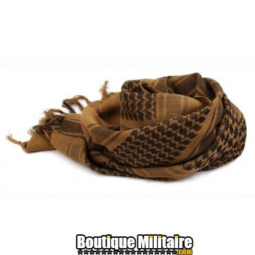 Écharpe Keffiyeh militaire • 110x110cm Marron