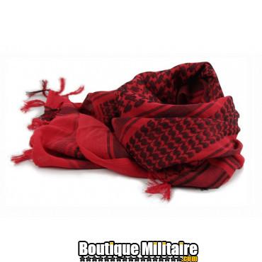 Écharpe Keffiyeh militaire • 110x110cm Rouge