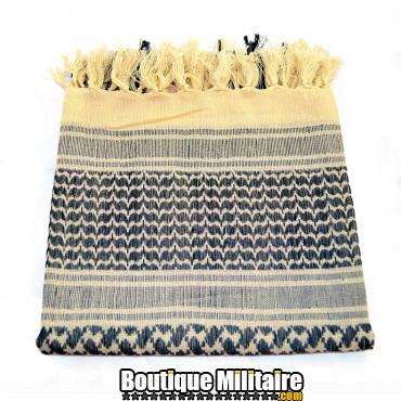 Écharpe Keffiyeh militaire • 110x110cm Beige