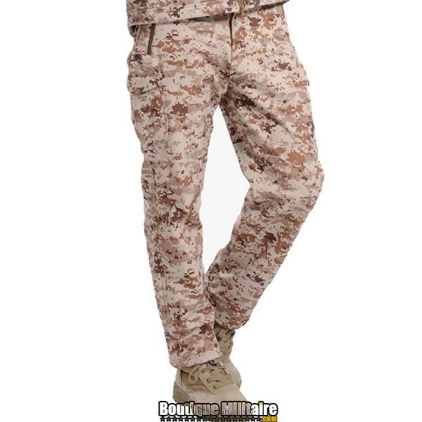 Pantalon Tactique Militaire Coupe-vent Imperméable • Camo Désert