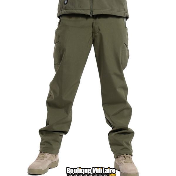 Pantalon Tactique Militaire Coupe-vent Imperméable • Unie Vert Armée