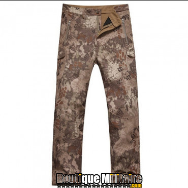 Pantalon Tactique Militaire Coupe-vent Imperméable • Camo Reptile Marron