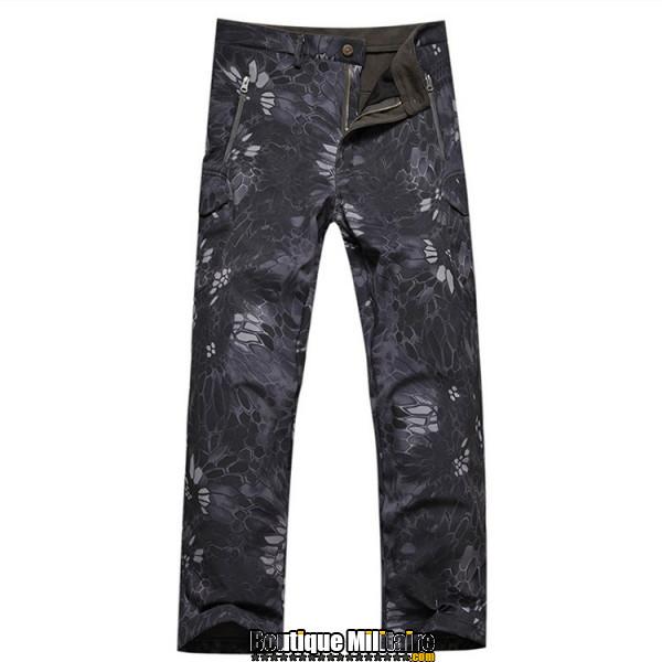 Pantalons Tactique Militaire Coupe-vent Imperméable • CAMO Reptile Noir