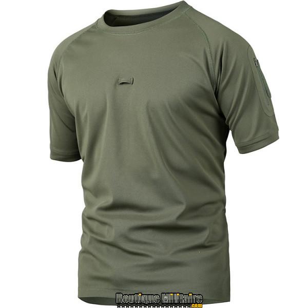 T-shirt militaire • Unie Vert Armée