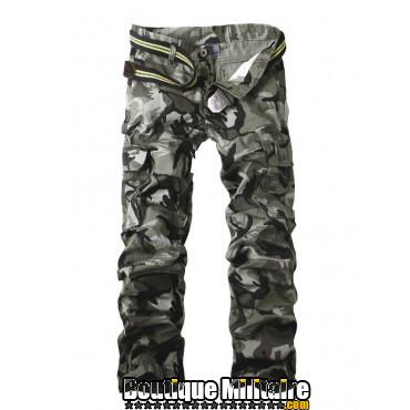 Pantalons Treillis Camouflage Militaire Cotton • CAMO Gris