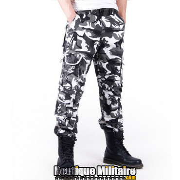 achat pantalon treillis cargo camouflage militaire coton camo urbain 49 90 sur. Black Bedroom Furniture Sets. Home Design Ideas