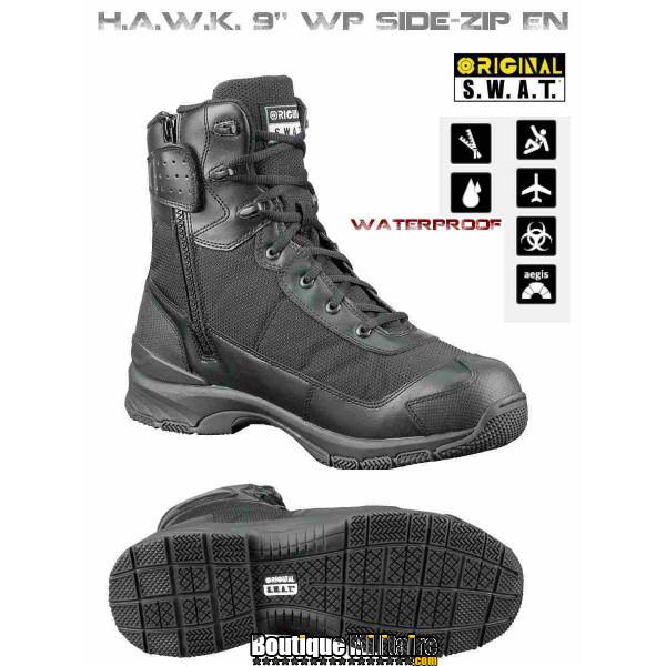 Chaussures Tactiques Original Swat H.A.W.K 9'' WP EN Noir