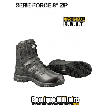 Chaussures Original Swat Force 8'' ZIP Noir