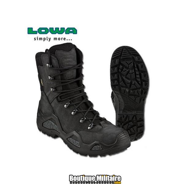 Chaussures d'intervention en Cuir et Daim LOWA Z-8N Goretex Noir