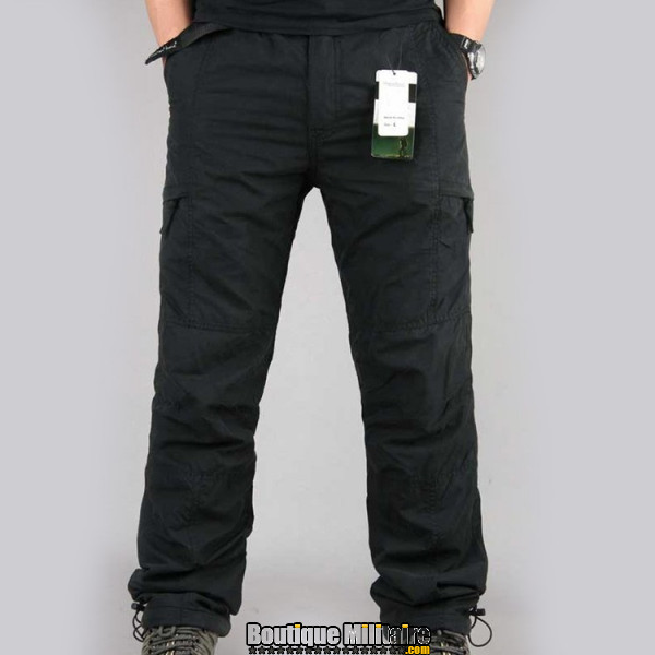 Pantalon Treillis Urbain • Unie Noir
