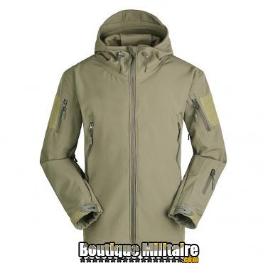 Blouson militaire Tacticale Imperméable • Camouflage Unie Vert