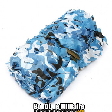 Filet De Camouflage Militaire • 4x2 Mètres • Camo Bleu Urbain