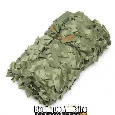 Filet De Camouflage Militaire • 4x2 Mètres • Unie Vert Armée