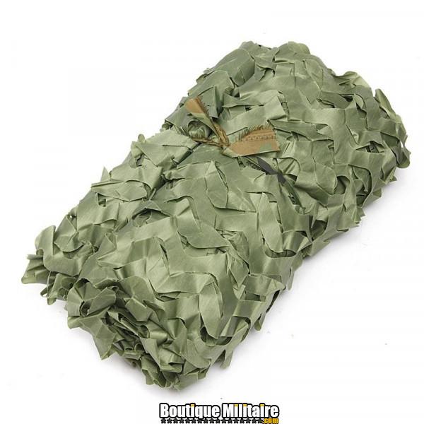 Filet De Camouflage Militaire • 3x2 Mètres • Unie Vert Armée