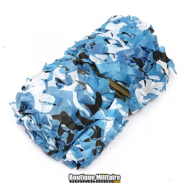 Filet De Camouflage Militaire • 3x2 Mètres • Camo Bleu Urbain