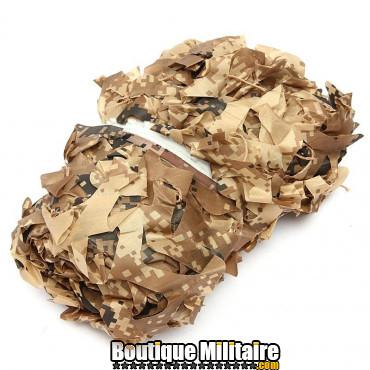 Filet De Camouflage Militaire • 3x2 Mètres • Camo Désert