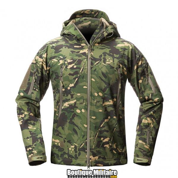Blouson militaire Tacticale Imperméable • Camouflage CAMO