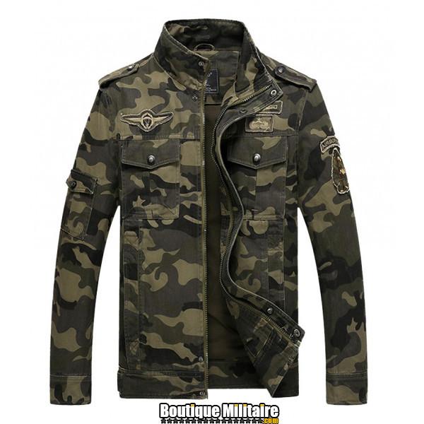 Veste Militaire Coton • Camo Nuit