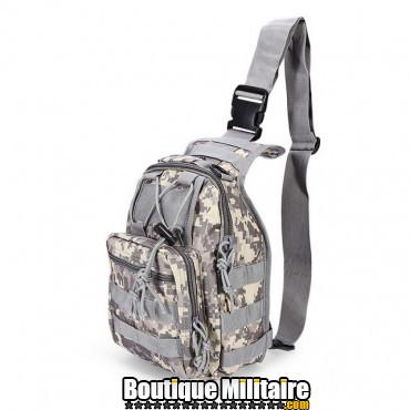Sac militaire d'épaule monosangle 600D • 30x22x5cm • ACU