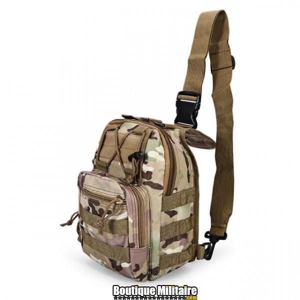 Sac militaire d'épaule monosangle 600D • 30x22x5cm • CP