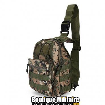 Sac militaire d'épaule monosangle 600D • 30x22x5cm • CAMO
