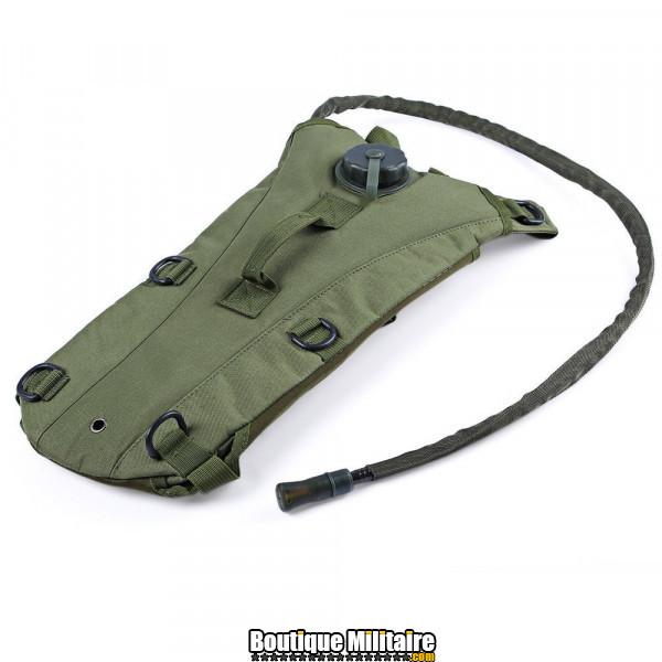 Sac à eau militaire • 3 Litres • 45x24x4 cm • Vert armée