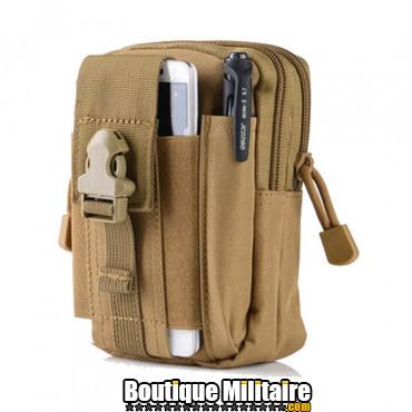 Pochette de ceinture militaire • 17x12x6 cm • Kaki