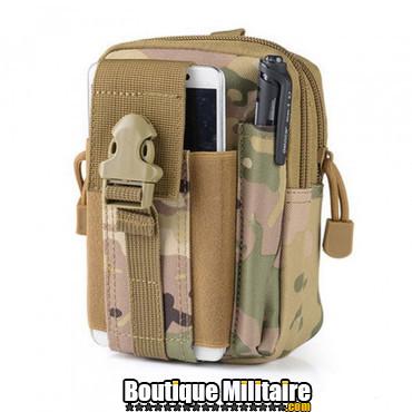 Pochette de ceinture militaire • 17x12x6 cm • CAMO