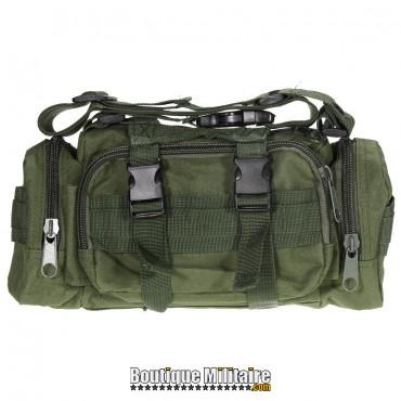 Mini sac de transport militaire monosangle • 30x18x6 cm • Vert armée