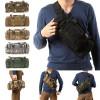 Mini sac de transport militaire monosangle • 30x18x6 cm • Noir Uni