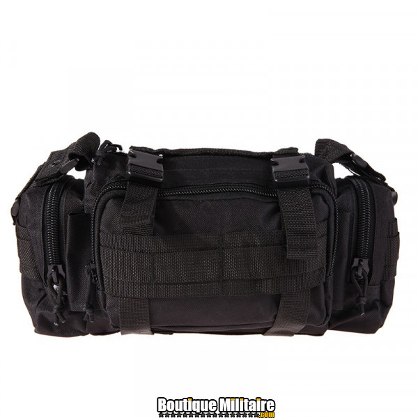 Mini sac de transport militaire monosangle • 30x18x6 cm • Noir Uni