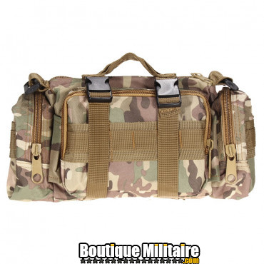 Mini sac de transport militaire monosangle • 30x18x6 cm • CAMO Kaki