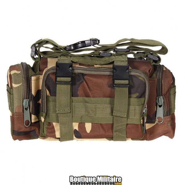 Mini sac de transport militaire monosangle • 30x18x6 cm • CAMO Vert