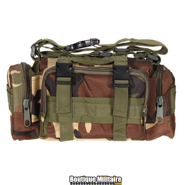 Mini sac de transport militaire monosangle • 30x18x6 cm • CAMO Vert