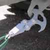 Grappin crochet de survie acier inoxydable • 13x9cm • charge maximale 25 Kg