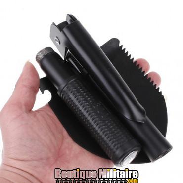 Mini pelle pliante portable • Noir
