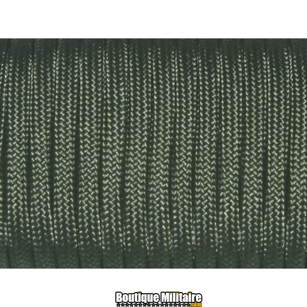 Paracorde militaire 4mm • 30 mètres • Vert kaki