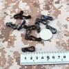 Lot 10 attaches rapide sac à dos militaire • 2,5 cm • Noir