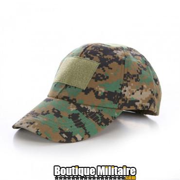 Casquette militaire • Camo forêt Digital