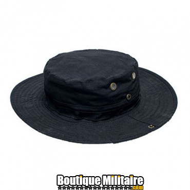 Chapeau militaire • Noir Uni
